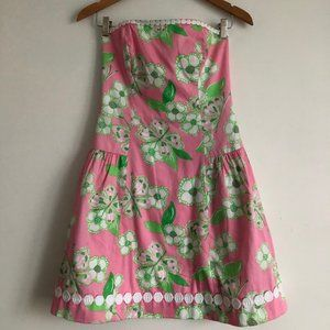 Lilly Pulitzer Pretty Pink Tootie Strapless Dress